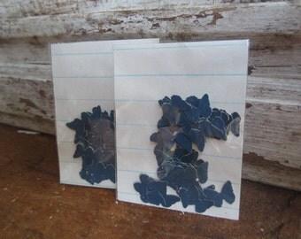 Vintage childrens book butterflies(50) butterfly die cut punch blue, navy, dark blue