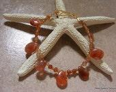 Sunny Sunstone Bracelet with Hessonite Garnet and Shaded Sunstone Rondelles.