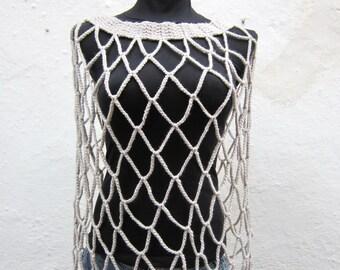 Crochet Capelet,Bride Shoulder Wrap,Bolero Shrug,Shawl,Scarf