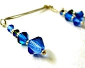Intimate Clip Clamp Jewelry Non Pierced  Sapphire Blue Swarovski Crystal   1001 Nights