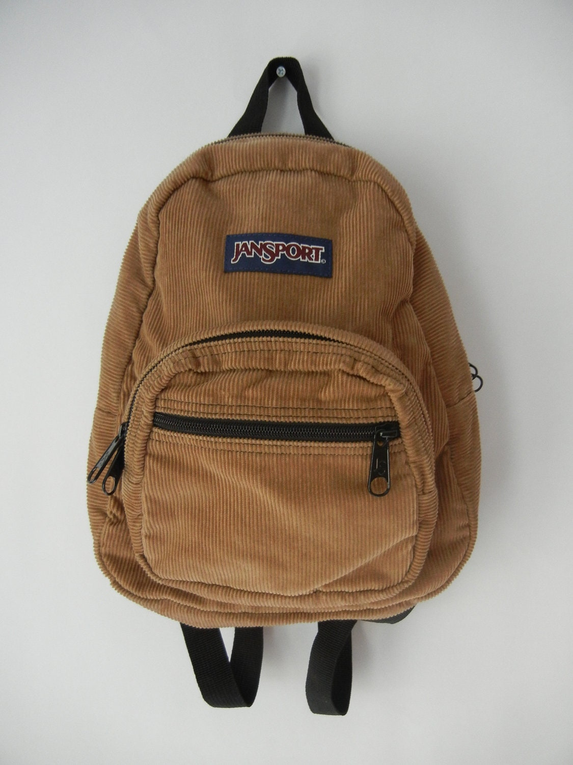 Jansport Mini Backpack Tan Corduroy Hipster 90's