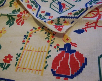 fun vintage cotton cloth napkins