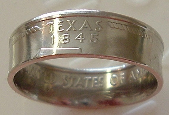 2004 Texas State Quarter Coin Ring in a size 7 1/2