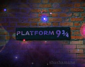 Platform 9 3/4, 10x15 art photograph, Harry Potter, Hogwarts, nine and three quarters