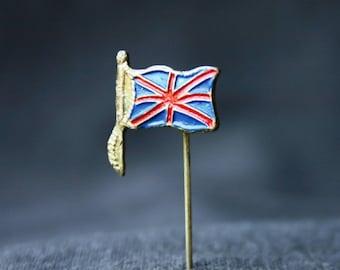 Union Jack. Vintage British flag enamel pin.
