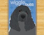 Cocker Spaniel Magnet - Wiggle Butt - Black Cocker Spaniel Gifts Fridge Dog Refrigerator Magnets