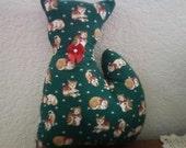 Christmas kitty stuffed primitive kitty decoration holiday gift