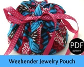 PATTERN for Weekender Jewelry Pouch