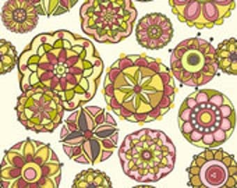 Riley Blake Designs Fiona's Fancy Cottons Pink Floral Fabric - 1 yard