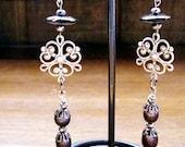 Victorian Black Pearl Earrings