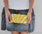 Lauralee in Mustard - Small flat clutch