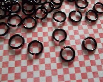 Black Jump Rings 150 Pieces Black Round 20 Gauge 6mm Jump Rings