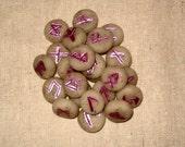 Handmade Mini Runes of the Elder Futhark, Lavender