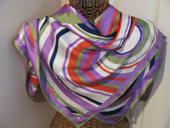 OMG My Fav - Lovely Colorful Egon Furstenberg Silk Scarf - 34 x 34 Square - Best of the Best NWT