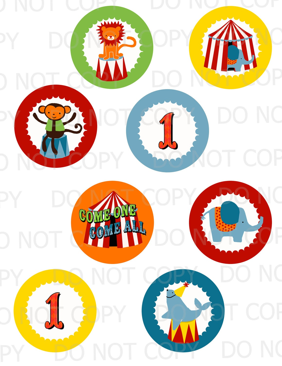 Circus Clown Cake Toppers