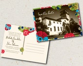 save the date- melody postcard
