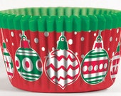 Christmas Ornament Cupcake Liners - Set of 32