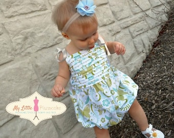 "Easy Baby Bubble Romper Pattern PDF - The ""Bryn"" Romper"