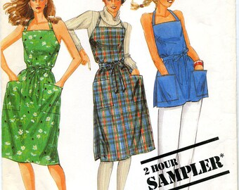 Vintage Misses'  Wrap Dress or Top in Two Lengths Sewing Pattern - McCall's No. 0012 - Sizes XS, S, M, L