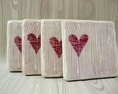 Wood You......set of 4 Italian stone coasters