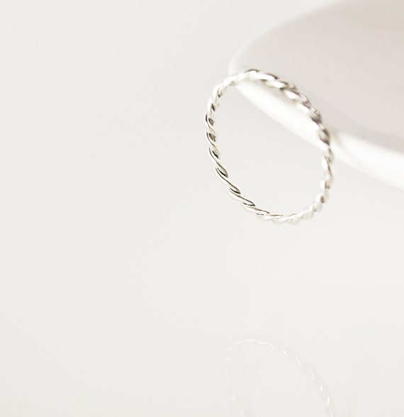 twisted ring- sterling silver-free shipping