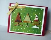 3 Trees Christmas Greeting Card