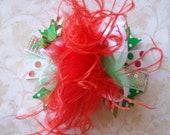 Holiday Hair Bow, Colorful Hair Ribbon, Custom Baby Hairbow, Ribbon Hair Clip, Baby Hair Bow Clip, Christmas Bow