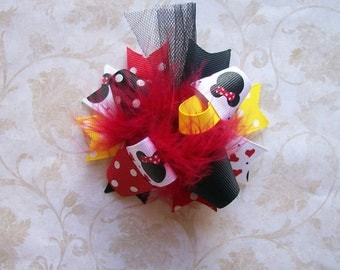 Hair Bow---MINI Funky Fun Over the Top Bow---Classic Mouse---