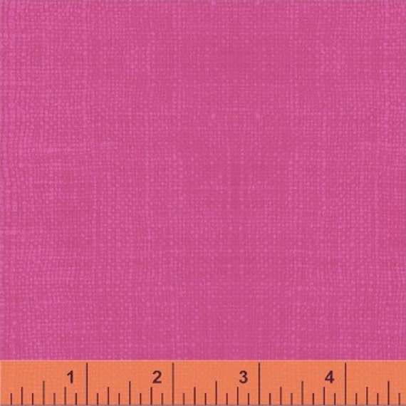 Solid Textured Pink Fabric, Divine By Rosemarie Lavin for Windham Fabrics, Solid Textured Print in Pink, 1 Yard