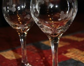 Mickey Mouse Etched Wine Glasses set of 2