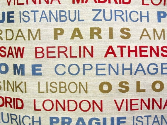 GREAT CITIES tapestry fabric