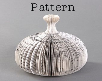 DIY Pattern or template for the book sculpture - Carafe II
