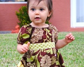 Custom Peasant Twirl Dress Size 6 month - 5t
