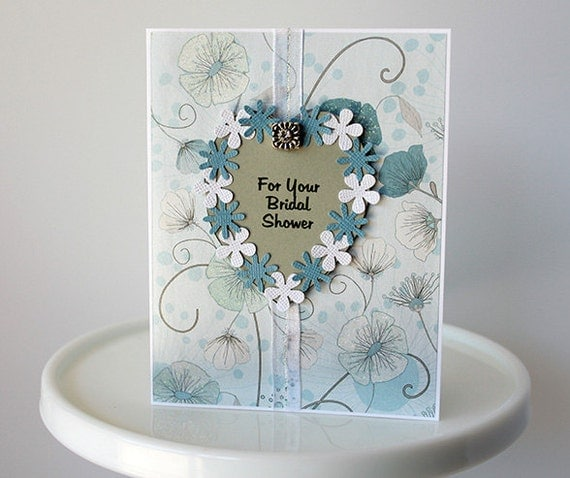 Wedding Gift Card Shower : to BRIDAL SHOWER GIFT card, shabby chic wedding shower, bridal card ...
