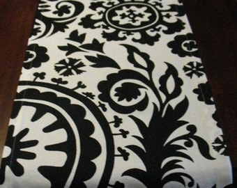 TABLE RUNNER Black Suzani 13 x 72 Two in stock