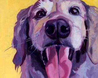 Golden Retriever Portrait Print