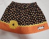 READY TO SHIP Halloween Corn Candy Skirt, Size 5