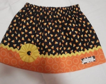 READY TO SHIP Halloween Corn Candy Skirt, Size 5