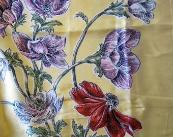 SALE - Pillowtop Perfection Yellow pink red anemones poppies
