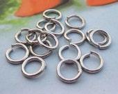 200pc Silver Metal Jumpring Jump Rings--6x1mm