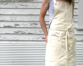 Canvas Utility Apron Made to Order 7-10 days processing time Will Not Arrive by Christmas
