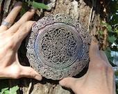 Celtic Knot Mandala Stone Sculpture, Altered Meditation, Celtic Art, Irish Art, Garden Art Gift, Irish Gift