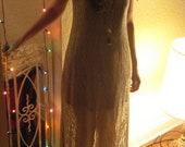Sheer Nude Lace Maxi Dress
