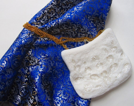 White Beaded Evening Bag- from Korea