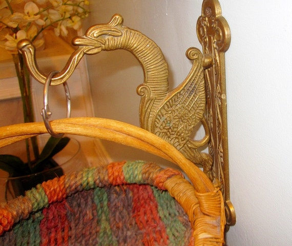 Vintage Brass Dragon Hook