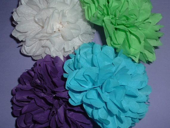 Tissue paper poms, Wedding decorations, Baby shower, Wedding anniversary, Bridal party, Party decorations, Set of 12