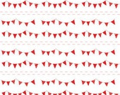 ON SALE 1 yard Riley Blake The Simple Life Simple Buntings Red