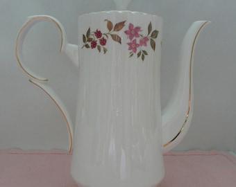 "REDUCED - Royal Stafford ""Fragrance"" English Bone China Coffee Pot"