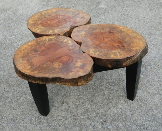 Items Similar To Large Stump Coffee Table On Etsy