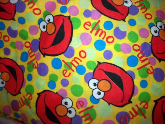 Cotton Hard To Find Elmo Fabric 1yard By Pickledotsdesigns